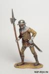 Английский пехотинец 15 век. - Оловянный солдатик коллекционная роспись 54 мм. Все оловянные солдатики расписываются художником в ручную