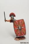 Центурион XIX легиона, 9 г. н. э. - Оловянный солдатик коллекционная роспись 54 мм. Все оловянные солдатики расписываются художником в ручную