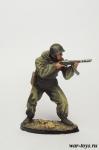 Боец ШИСБр, 1943-1945 гг. - Оловянный солдатик коллекционная роспись 54 мм. Все оловянные солдатики расписываются художником в ручную