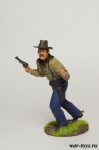 Ковбой с пистолетом - Оловянный солдатик коллекционная роспись 54 мм. Все оловянные солдатики расписываются художником в ручную