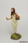 Египетская девушка, Александрия, 48 г до н.э. - Оловянный солдатик коллекционная роспись 54 мм. Все оловянные солдатики расписываются художником в ручную
