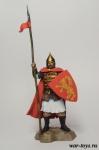 Русский воин горожанин, вторая половина 14 века - Оловянный солдатик коллекционная роспись 54 мм. Все оловянные солдатики расписываются художником в ручную