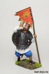 Викинг-знаменосец, IX-X вв. - Оловянный солдатик коллекционная роспись 54 мм. Все оловянные солдатики расписываются художником в ручную