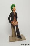 Девушка панк. Pin Up 80 мм - Коллекционная оловянная миниатюра 80 мм.
