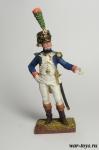 Офицер фузилёров-егерей Имп. Гвардии. Франция, 1806-14 гг - Оловянный солдатик коллекционная роспись 54 мм. Все оловянные солдатики расписываются художником в ручную