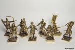 Набор бронзовых солдатиков Самураи 40 мм