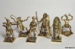 Набор бронзовых солдатиков Индейцы 40 мм. 6 шт