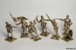 Набор бронзовых солдатиков Мальтийский Орден40 мм. 7 шт
