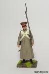 Регулярная пехота 1812-14 гг. Рядовой в строю - Оловянный солдатик коллекционная роспись 54 мм. Все оловянные солдатики расписываются художником в ручную