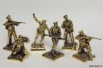 Набор бронзовых солдатиков - Советская армия 40 мм