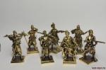Набор бронзовых солдатиков - Казаки 40 мм