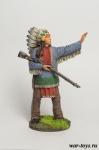 Индейский вождь - Оловянный солдатик коллекционная роспись 54 мм. Все оловянные солдатики расписываются художником в ручную