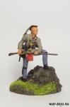 Воин племени Ирокезов - Оловянный солдатик коллекционная роспись 54 мм. Все оловянные солдатики расписываются художником в ручную