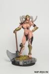 Демонесса - Оловянный солдатик коллекционная роспись 54 мм. Все оловянные солдатики расписываются художником в ручную