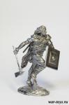 Атакующий кельт - Оловянный солдатик. Чернение. Высота солдатика 54 мм