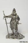 Ландскнехт-допельзольднер - Оловянный солдатик. Чернение. Высота солдатика 54 мм