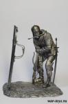 Арбалетчик с щитом 90мм - Оловянный солдатик. Чернение. Высота солдатика 90 мм