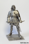 Граф Конрад фон Ландау 90мм - Оловянный солдатик. Чернение. Высота солдатика 90 мм