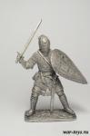 Русский воин-дружинник, 13 век - Оловянный солдатик. Чернение. Высота солдатика 54 мм