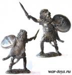 Карфагенский офицер, 3-2 вв до н. э. - Оловянный солдатик. Чернение. Высота солдатика 54 мм