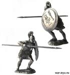 Карфагенский тяжеловооруженный пехотинец, 3-2 вв до .н. э. - Оловянный солдатик. Чернение. Высота солдатика 54 мм