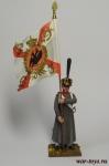 Регулярная пехота 1812-14 гг. Подпрапорщик - Оловянный солдатик коллекционная роспись 54 мм. Все оловянные солдатики расписываются художником в ручную