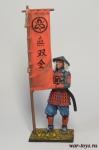 Асигару-знаменосец, 1600 год - Оловянный солдатик коллекционная роспись 54 мм. Все оловянные солдатики расписываются художником в ручную