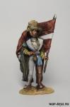 Ландскнехт-знаменосец, 16 век - Оловянный солдатик коллекционная роспись 54 мм. Все оловянные солдатики расписываются художником в ручную