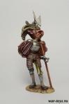 Ландскнехт с алебардой, 16 век. - Оловянный солдатик коллекционная роспись 54 мм. Все оловянные солдатики расписываются художником в ручную