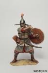 Золотоордынский воин, 14 век. - Оловянный солдатик коллекционная роспись 54 мм. Все оловянные солдатики расписываются художником в ручную