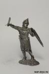 Рыцарь, Великое княжество Литовское, XIV-XV вв - Оловянный солдатик. Чернение. Высота солдатика 54 мм