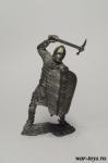 Рыцарь, Великое княжество Литовское, XIV-XV - Оловянный солдатик. Чернение. Высота солдатика 54 мм