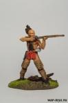 Ирокезский воин - Оловянный солдатик коллекционная роспись 54 мм. Все оловянные солдатики расписываются художником в ручную