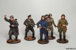 Набор оловянных солдатиков  - Вторая Мировая - Набор оловянных солдатиков 5 шт. Высота солдатиков 54 мм.