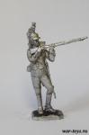 Рядовой французского драгунского полка армии Наполеона 1812г - Оловянный солдатик. Чернение. Высота солдатика 54 мм