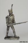 Карабинер легкой пехоты Наполеона 1812 г. - Оловянный солдатик. Чернение. Высота солдатика 54 мм