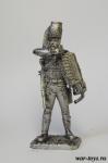 Рядовой французского полка гусар смерти - Оловянный солдатик. Чернение. Высота солдатика 54 мм
