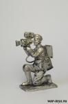 Кинооператор. Германия, 1943 г. - Оловянный солдатик. Чернение. Высота солдатика 54 мм