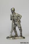 Рядовой императорской армии, Япония, 1945 г. - Оловянный солдатик. Чернение. Высота солдатика 54 мм