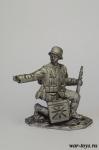 Наводчик расчета РАК 35/36 - Оловянный солдатик. Чернение. Высота солдатика 54 мм
