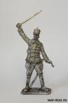 Обер-лейтенант австро-венгерского гусарского полка, 1914 г. - Оловянный солдатик. Чернение. Высота солдатика 54 мм