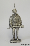 Обер-офицер гусарского Александрийского полка, 1914 год - Оловянный солдатик. Чернение. Высота солдатика 54 мм