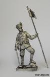 Рядовой прусского гусарского полка, 1915 г. - Оловянный солдатик. Чернение. Высота солдатика 54 мм