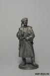 Красноармеец кубанских казачьих кавалерийских частей. 1939-43 г - Оловянный солдатик. Чернение. Высота солдатика 54 мм
