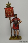Римский знаменосец, 1-2 вв н.э. - Оловянный солдатик коллекционная роспись 54 мм. Все оловянные солдатики расписываются художником в ручную