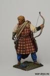 Шотландские кланы 17-18 век. Лучник - Оловянный солдатик коллекционная роспись 54 мм. Все оловянные солдатики расписываются художником в ручную