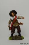 Офицер, Гражданская Война в Англии - Оловянный солдатик коллекционная роспись 54 мм. Все оловянные солдатики расписываются художником в ручную