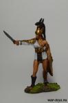 Женщина-гладиатор 1 в н.э. - Оловянный солдатик коллекционная роспись 54 мм. Все оловянные солдатики расписываются художником в ручную