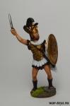 Царь Леонид (Спарта) 5 в до н.э. - Оловянный солдатик коллекционная роспись 54 мм. Все оловянные солдатики расписываются художником в ручную