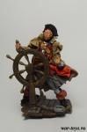 Пират у штурвала - Оловянный солдатик коллекционная роспись 54 мм. Все оловянные солдатики расписываются художником в ручную